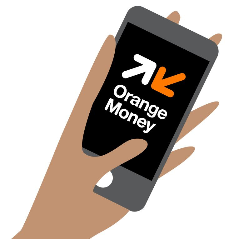 Illustration Orange Money sur mobile